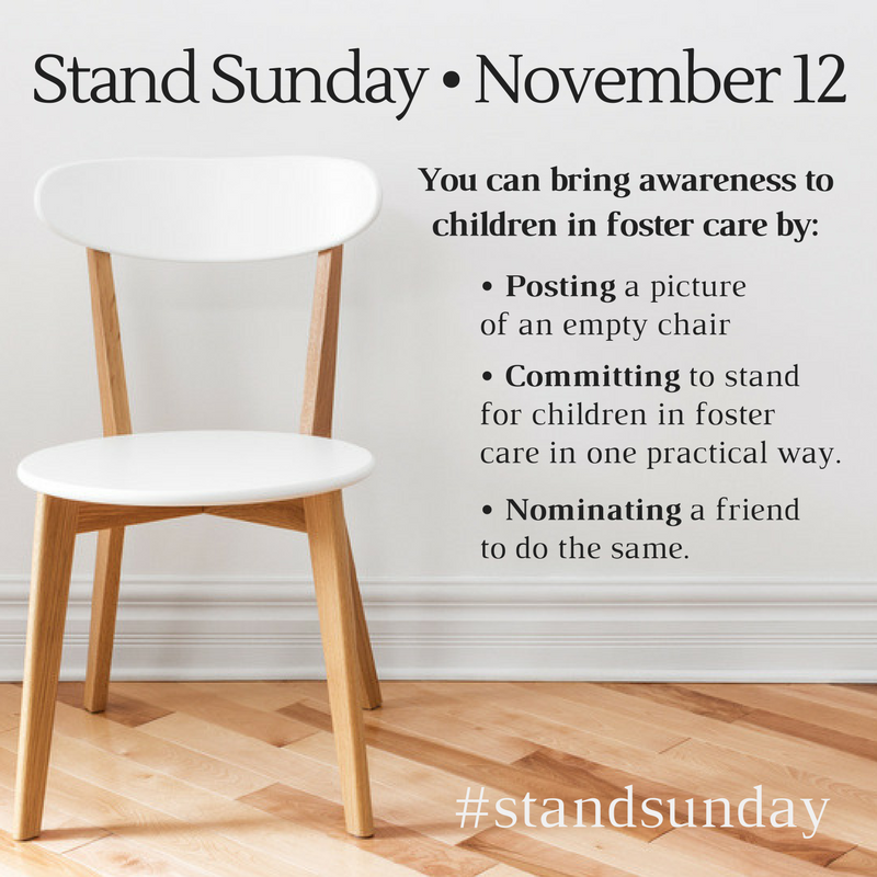 Stand Sunday – 3 Easy Ways to Tangibly Stand for Children in Foster Care